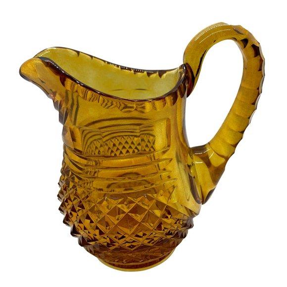 Vintage Other - Vintage Amber Cut Glass Creamer-MCM
